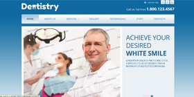 healthcare dentist doctor website design templates