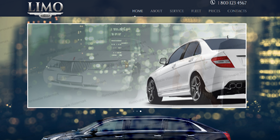 transportation limo car website design templates