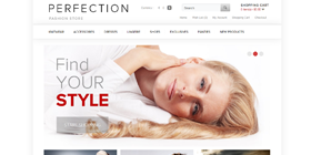 retail shopping-e-commerce website design templates